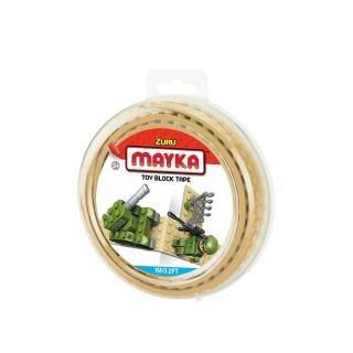 MAYKA Toy Block Tape 1m2Stud / Sand